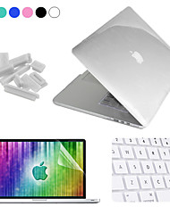 "Enkay Case for Macbook Pro 15"" with Retina display Solid Color Crystal Protective Case Screen Protector Keyboard Film Anti-dust Plugs"