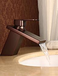 abordables -Antique Set de centre Jet pluie Soupape céramique 1 trou Mitigeur un trou Bronze huilé, Robinet lavabo