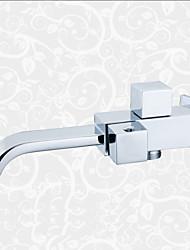 billige -Moderne Vægmonteret Vandfald Keramik Ventil Enkelt håndtag Et Hul Krom, Håndvasken vandhane