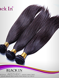 """3 Pcs Lot 12""""-30"""" Brazilian Silky Straight Wefts Natural Black Remy Human Hair Weave Tangle Free"""