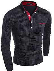 お買い得  -男性用 Tシャツ ソリッド コットン