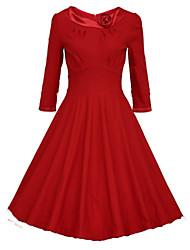 cheap -Women's Chic & Modern A Line Dress Vintage Style