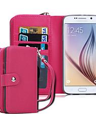 economico -DE JI Custodia Per Samsung Galaxy Samsung Galaxy Custodia A portafoglio Integrale Tinta unita pelle sintetica per S8 Plus / S8 / S6 edge