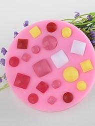 botão gem bolo fondant de chocolate em forma de molde de silicone, ferramentas de decoração bakeware