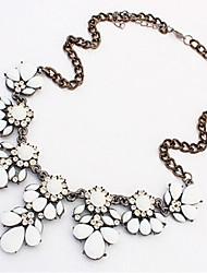 Femme Colliers Déclaration Résine Strass Alliage Mode bijoux de fantaisie Bijoux Pour Mariage Soirée Quotidien Décontracté
