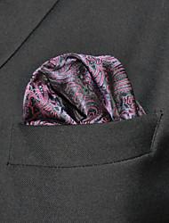 Недорогие -мужская работа случайный районный галстук карманные квадраты - цветной блок Пейсли, основной