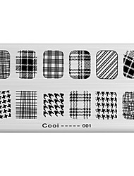 cheap -DIY Nail Art Stamp Stamping Image Template Plate/Nail Stencils Geometric Pattern