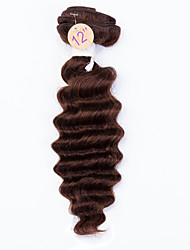 Cabelo Humano Ondulado Cabelo Malaio Onda Profunda 12 meses 1 Peça tece cabelo