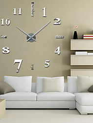 cheap -Modern / Contemporary Stainless Steel Round Indoor,AA Wall Clock