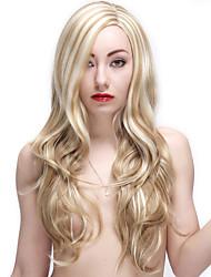 28 pollici parrucche biondo lunga parrucca riccia sintetico femminile
