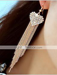 abordables -Pendientes colgantes Brillante La imitación de diamante Legierung Forma de Corazón Joyas Fiesta Diario 1 par