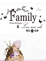 Wall Stickers Wall Decals Style New Family English Words & Quotes PVC Wall Stickers