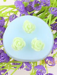 Недорогие -цветочные формы помадные торт шоколадный силиконовые формы, формы для выпечки украшение инструменты