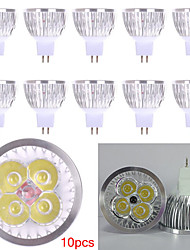 10pcs MR16 LED Spotlight MR16 4 High Power LED 450lm Warm White Cold White Decorative DC12V