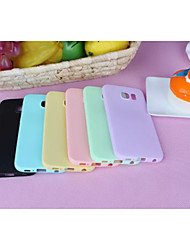 cheap -Case For Samsung Galaxy Samsung Galaxy Case Back Cover Solid Colored TPU for S6
