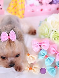 cheap -Cat Dog Hair Accessories Hair Bow Dog Clothes Cosplay Wedding Yellow Blue Pink Costume For Pets