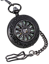 cheap -Men's Retro Wheel Carving & Glow-in-the-Dark Design Mechanical Pocket Watch Brand New Mechanical Hand Wind Watches Cool Watch Unique Watch
