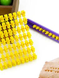 Недорогие -буква алфавита номер печенье печенья нажмите штамп для тиснения прессформы торта (26 букв + номера)
