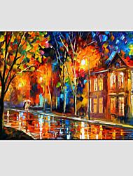 Pintados à mão Paisagens AbstratasModerno / Estilo Europeu 1 Painel Tela Pintura a Óleo For Decoração para casa