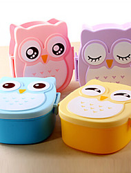 cheap -Cute Cartoon Owl Lunch Box Food Container Portable Bento Storage Box