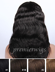 cheap -Human Hair Lace Front Wig Body Wave Wig 130% Natural Hairline / African American Wig / 100% Hand Tied Women's Medium Length / Long Human Hair Lace Wig