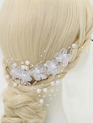abordables -mousseline de soie imitation perle alliage coiffures peigne style élégant
