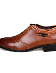 Men's Loafers & Slip-Ons Comfort Formal Shoes Fall Winter Real Leather Cowhide Wedding Casual Party & Evening Outdoor Office & Career