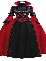 cheap -Gothic Lolita Dress Steampunk® Lace Women's Dress Cosplay Long Sleeve Long Length Halloween Costumes