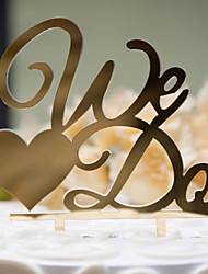 cheap -Cake Topper Classic Theme Classic Couple Hard plastic Wedding Anniversary Bridal Shower With OPP
