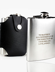 cheap -Groom Groomsman Parents Baby & Kids Stainless Steel Hip Flasks Wedding Anniversary Birthday Congratulations Graduation Thank You Business