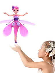 cheap -Flying Fairy Hovering Angel Princess Doll Wings Flitter RC Remote Control Toys Hand Sense Doll Toy