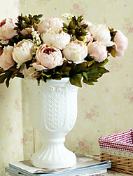 billige -1 Afdeling Polyester Pæoner Bordblomst Kunstige blomster