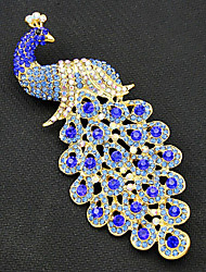 cheap -Women's Peacock Gold Plated Brooches - Vintage / Fashion Peacock Royal Blue Brooch For Party / Special Occasion