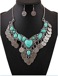 MPL European and American fashion gem diamond Coin Necklace