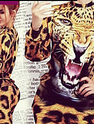 cheap -TTU      Women's Leopard Animal Print Suits , Casual / Party / Work Round Long Sleeve