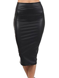 cheap -Women's Vintage Bodycon Skirts - Solid, Sexy