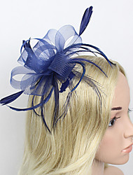 cheap -Feather Net Fascinators Headwear with Floral 1pc Wedding Special Occasion Headpiece