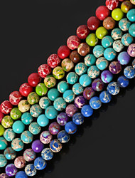 cheap -Beadia 1Str(Approx 85pcs) 4mm Round Natural Stone Beads Dyed Colors Sea Sediment Jasper Beads
