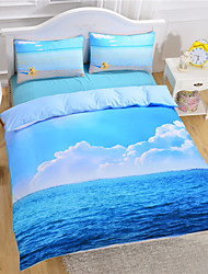 cheap -Starfish And Ocean Duvet Cover Set 3D Bedding Set Twin Full Queen