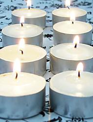 Недорогие -100шт белые обету свечи Tealight свадебный домашний декор