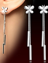 cheap -WH  925 Woman Silver Drop Earrings Long Tassel