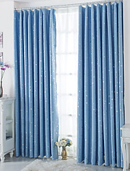 cheap -Two Panels European Contracted Fashion High-Grade Star Children Room Window Shade Curtains Drapes