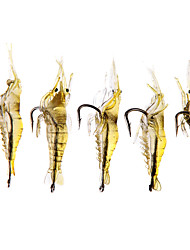 """economico -20 pc Esche morbide Esca Esche morbide Gamberi / Gamberetto Colori assortiti g/Oncia mm/1-5/8"""" pollice,SiliconePesca a mulinello Pesca di"""