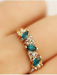 cheap -Women's Crystal Synthetic Emerald Rhinestone Imitation Diamond Alloy Statement Ring - Classic For Daily Casual