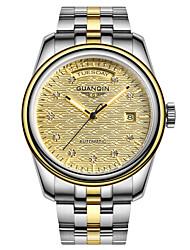 ieftine -guanqin bărbați automatic ceas calendar săptămână 100m safir rezistent la apa ceas automat 42mm oțel de cristal încheietura mâinii