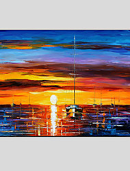 cheap -Oil Paintings Modern Sea View, Canvas Material with Stretched Frame Ready To Hang SIZE:60*90CM.