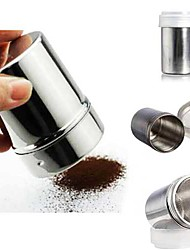 cheap -Chocolate Powder Cocoa Flour Shaker Icing Sugar Cappuccino Coffee Sifter Bottle