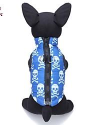 preiswerte -Katze Hund Mäntel Weste Hundekleidung Lässig/Alltäglich Totenkopf Motiv Blau Kostüm Für Haustiere