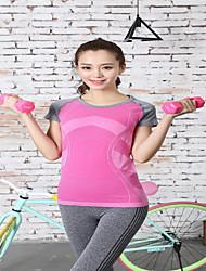 お買い得  -女性用 ランニングTシャツ 半袖 速乾性 Tシャツ トップス のために ヨガ エクササイズ&フィットネス ランニング タクテル 1 # 2 # 3 # 4 # 5 # S M L XL