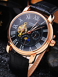 cheap -Men's Business Round Rome Number Dial Mineral Glass Mirror Genuine Leather Band Mechanical Waterproof Watch Wrist Watch Cool Watch Unique Watch